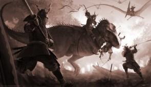 Samurai Vs T-Rex