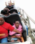 Scared Girl on Rollercoaster