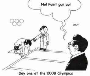 Day One at the 2008 Olympics