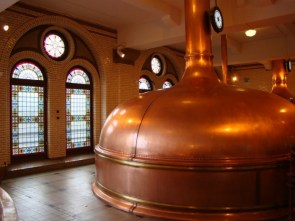 Copper brewery vats