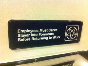 Employee instructions