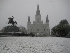 Snowy Jackson Square