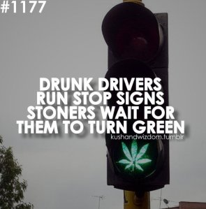 Drunk drivers vs stoners