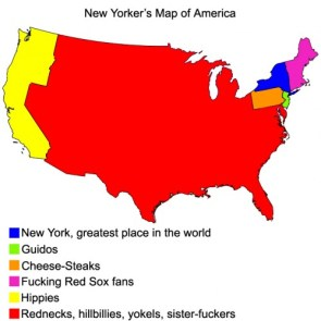 A New Yorkers Map of America