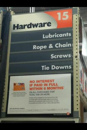 Kinkiest aisle at Home Depot