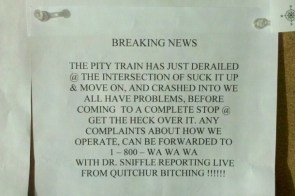 The pity train