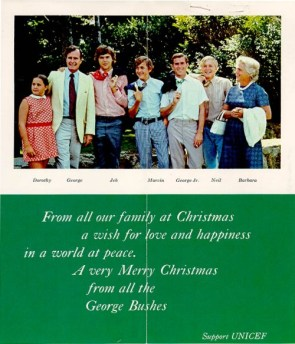 The Bushes' Christmas Card