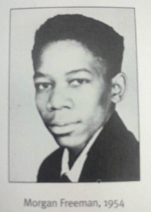 Morgan Freeman's yearbook picture