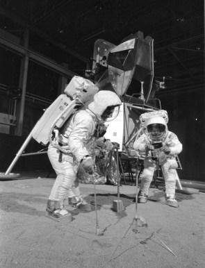 moon landing practice