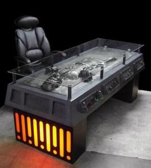 Han Solo Frozen Carbonite Desk