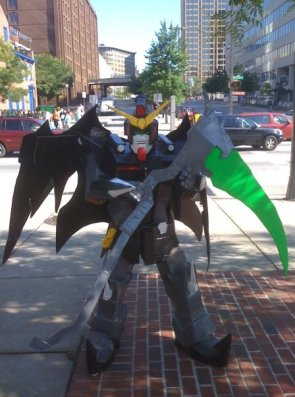 Otakon 2008- cosplay of me as Gundam Deathscythe