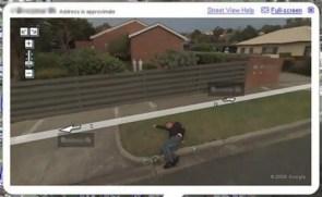Google Street View Captures Drunk