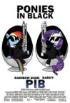 ponies in black