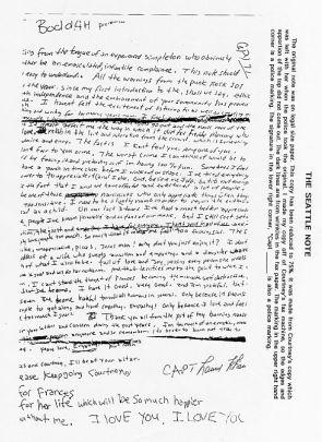 Kurt Cobain's suicide letter