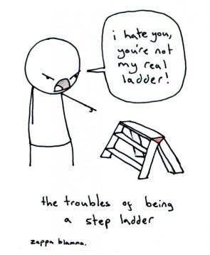 Sad life of step ladders