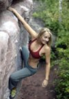 Blonde climber