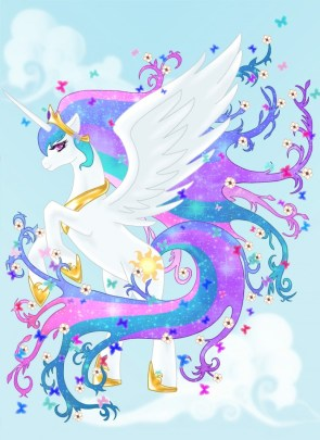 celestia and rainbow art