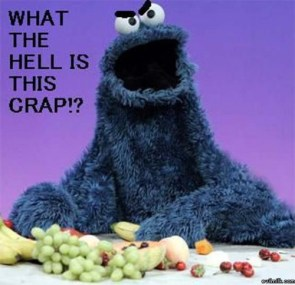 Cookie Monster Hates Fruit