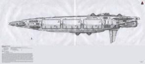 Old school spaceship render