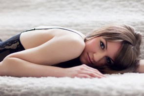 lying on the carpet