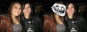 Trollface Sister out and about