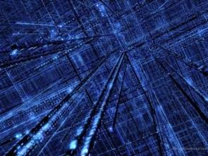 Wild Blue Grid Wallpaper