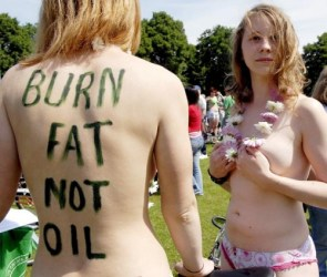 NSFW – Naked Protesters