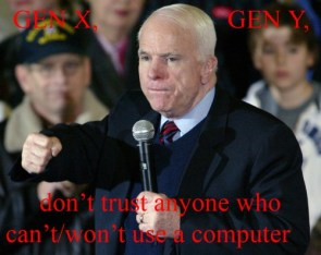McCain doesn't know internets