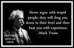 Mark Twain on Stupid