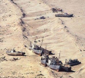 Deserted Ships in Desert