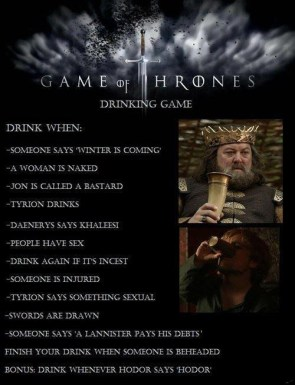Game of Thrones Drinking Game