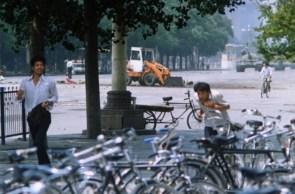 chinese bike parking lot