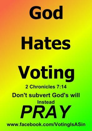 god hates voting