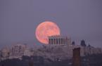 Parthenon at night