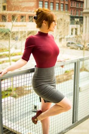 sexy grey skirt