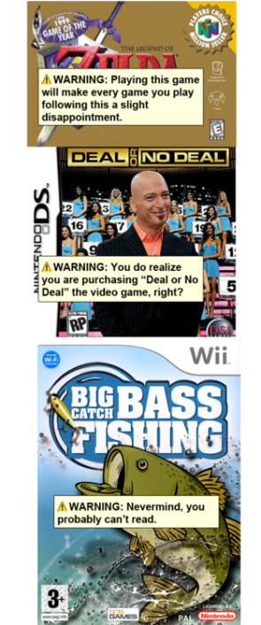 warning labels on games