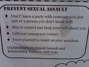 Prevent sexual assault