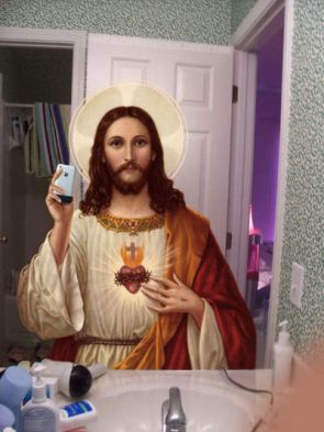 jesus takes a picture