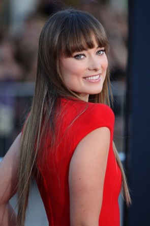 olivia wilde in a red dress