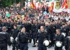 german police and protesters