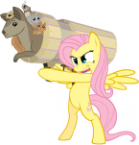 fluttershy gets her animal canon out