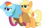 applejack fires rainbow dash