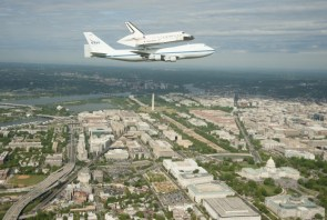 space flight over DC