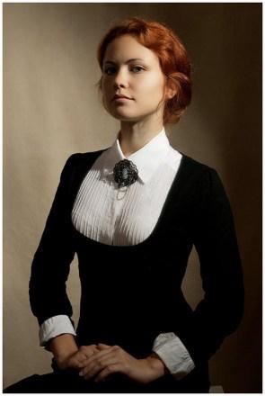 classy lady in black