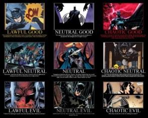 Batman's Various Alignments