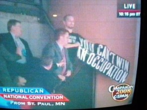 EPIC Sign Held up at McCain RNC Speech