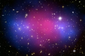Two Giant Galaxy Clusters Collide