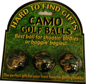 Camo Golf Balls
