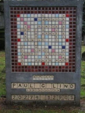 Scrabble Tombstone