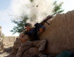 US Marine Under Fire, Afghanistan